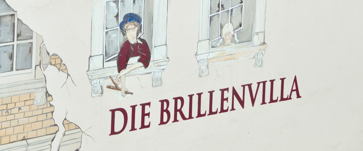 Brillenvilla Wandmalerei Brillengeschäft Gelsenkirchen