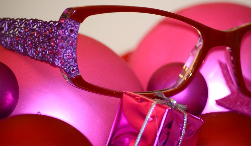 Korrekturbrille pink