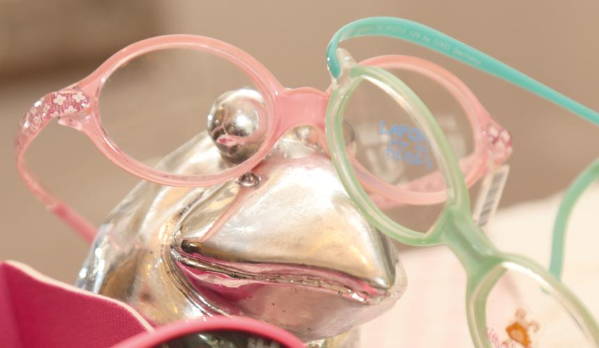 rosa Säuglingsbrille