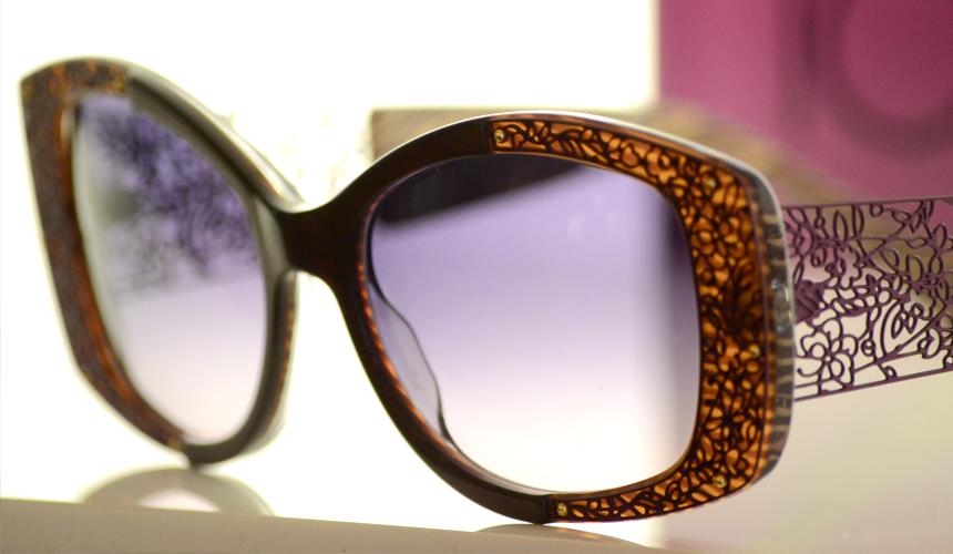 Polfilterbrille lila